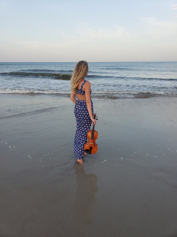 destination wedding, destination event, ocean, violin, amelia island