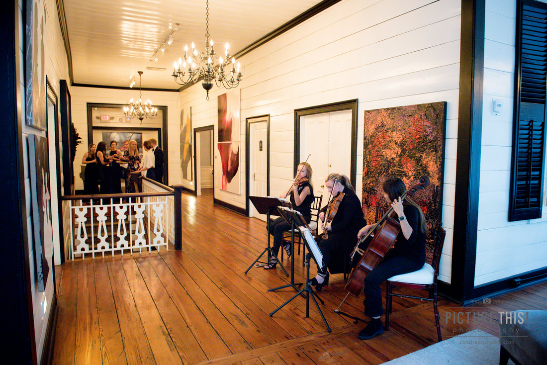 Cobalt Strings string trio wedding at the estate in buckhead